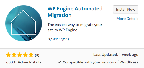 WP Engine Migration Plugin Installation