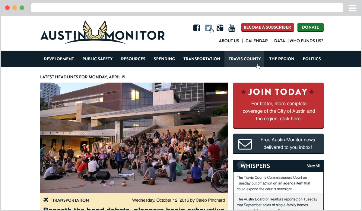 Austin Monitor Paywall WordPress
