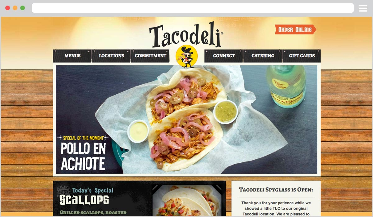WordPress Development for Tacodeli