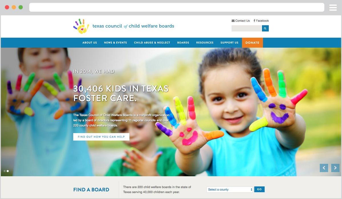 Texas Council of Child Welfare Boards Website