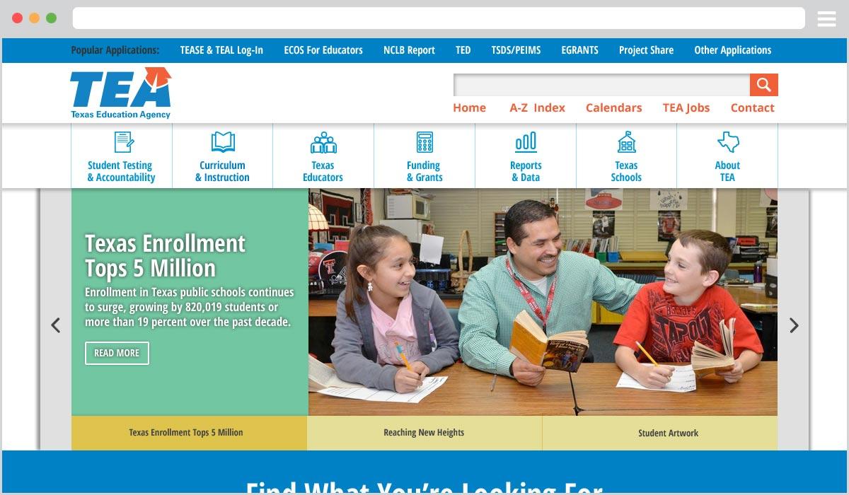 Texas Education Agency Website