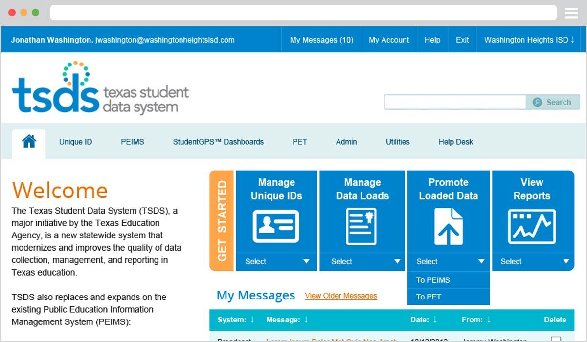 TSDS Portal