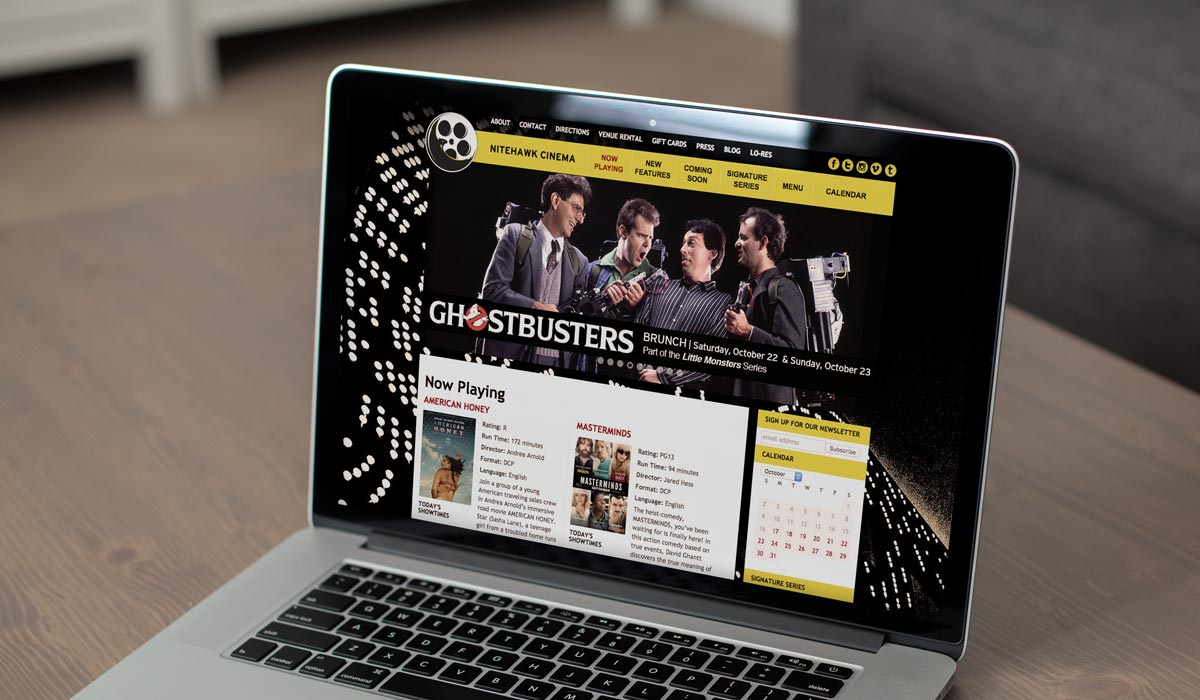 WordPress Movie Theater Website